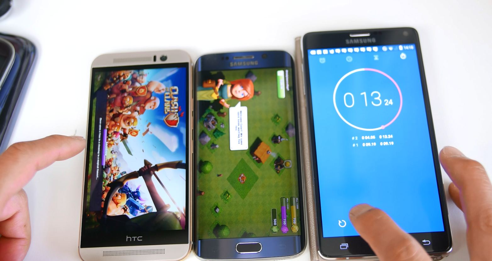 Galaxy S6 Edge vs  HTC One M9 – REAL WORLD Performance Test! [Game