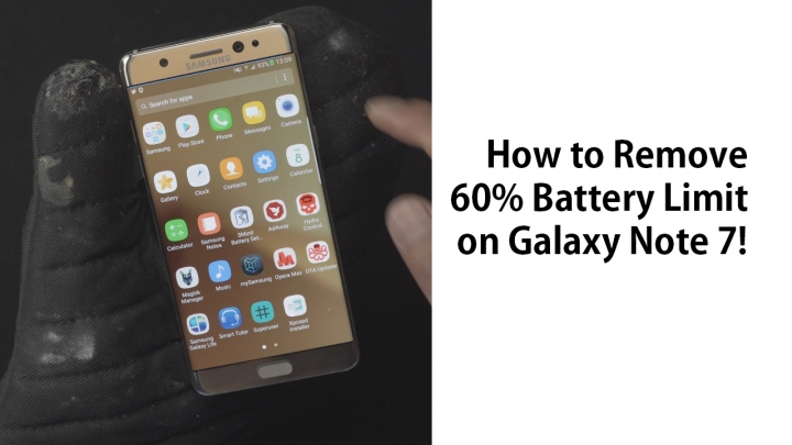How to Remove/Fix 60% Battery Limit on Galaxy Note 7 ...